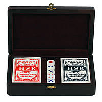 Игра настольная Покер в дерев. шкатулке 20х12х5 см Арт. 176-089