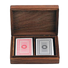 Карты игральные ТМ Duke в деревянном футляре 16х11х4 см Арт. WB111