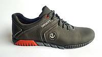 Мужские кожаные кроссовки Ecco Biom black