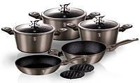 Набор посуды Berlinger Haus Carbon Metallic Line BH-1219 (10 пр.)