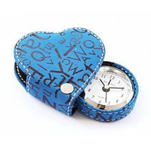 Будильник-сердечко Runoko Heart Blue в футляре CB-Blue синий