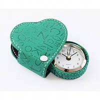 Будильник-сердечко Runoko Heart Green в футляре CB- Green бирюза