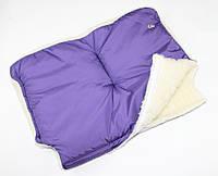 Меховая муфта на детскую коляску или санки (цвета разные) Фиолетовый