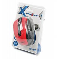 Мышь компьютерная MAXXTRO оптическая беспроводная цвет красный Арт. Mr-325-R