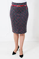 Теплая женская юбка из плотной стрейчевой ткани