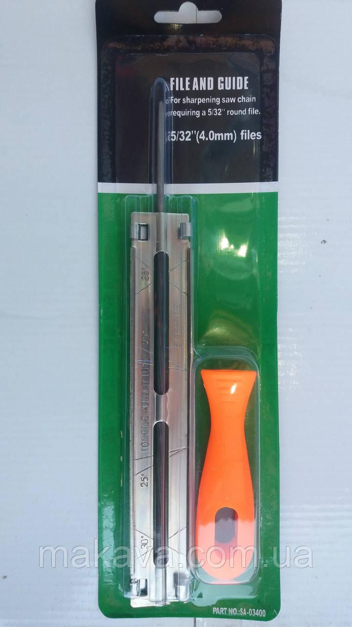 Планка-станок с напильником для заточки цепей пил File and Guide 5/32 (4 mm.)