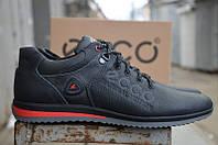 Мужские кожаные кроссовки Ecco  Biom 15 BLACK 42