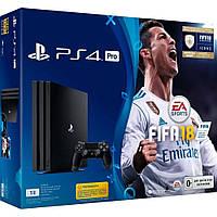 Стационарная игровая приставка Sony PlayStation 4 Pro (PS4 Pro) + FIFA 18 Новинка