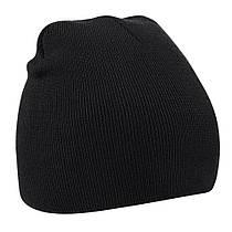 Детская вязанная демисезонная шапка черная