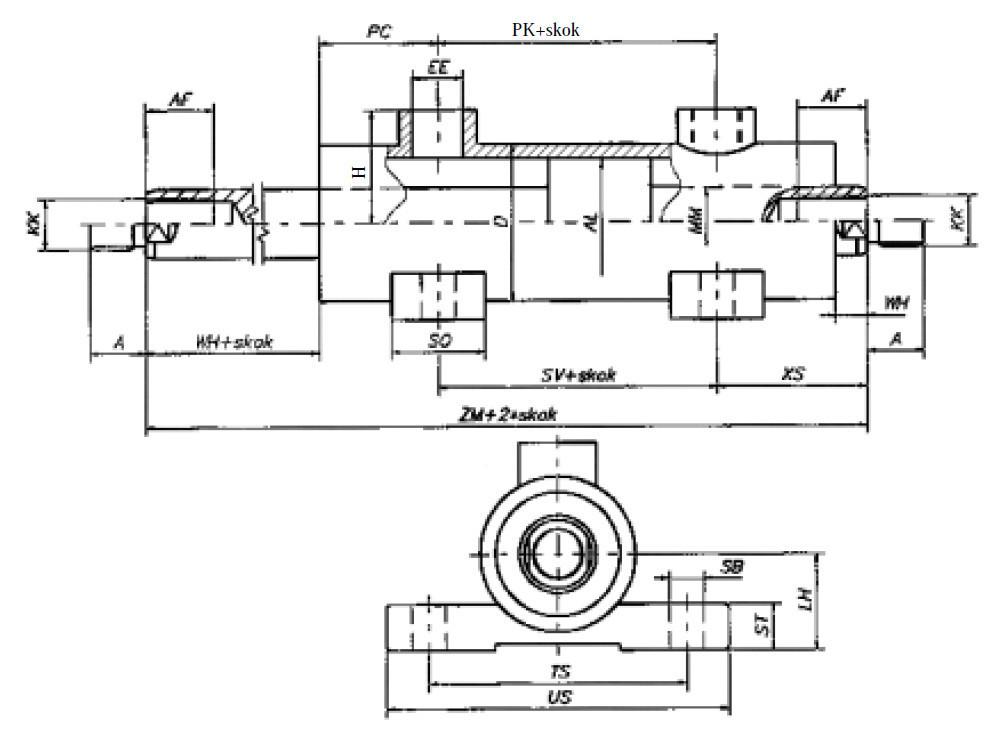 Поршневі гідроциліндри типу UCD6