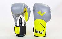 Перчатки боксерские кожаные на липучке ELAST PRO STYLE ELITE BO-5228-GR