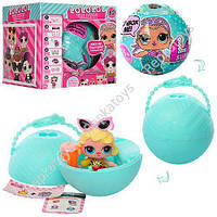 "Кукла ""Lol"", диаметр шара 10 см, наклейки, аксессуары, в коробке (ОПТОМ) A9002"