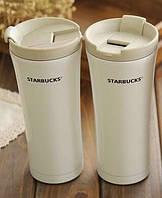 Термокружка Starbucks термочашка термокружка старбакс 500 мл Белая