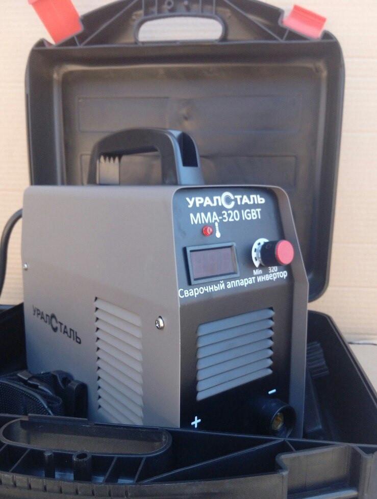 Зварювальний інвертор Уралсталь ІСА ММА-370 IGBT в кейсі