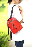 Рюкзак женский мини рюкзак с имитацией под змеиную кожу красный;червоний
