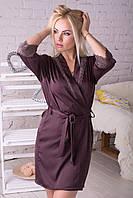Женский халат красивого шоколадного цвета  Хш017п