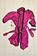 Женский халат с кружевом,  вискоза, фото 1
