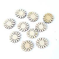 Деревянные заготовки цветочки (цветок) 2 см 10 шт/уп