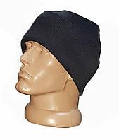 Зимняя акриловая шапка, черная. НОВАЯ. UA.