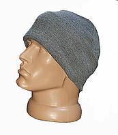 Зимняя акриловая шапка, серая. НОВАЯ. UA.