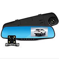 Зеркало-регистратор с монитором 4,3 дюйма с Камерой заднего вида и картой памяти 16 гб.