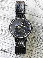 Женские наручные черные часы GENEVA с камнями