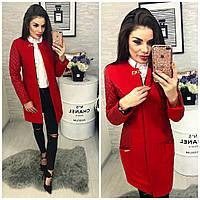 Пальто утепленное, арт. 799,  красный, фото 1