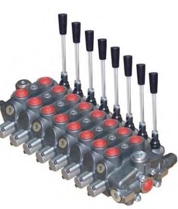 Секционный распределитель 8 секций (150л/мин)  Appiah Hydraulics