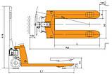 Погрузчик ручной Tory Carrier HPS6-7S, фото 2