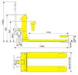 Погрузчик ручной Tory Carrier HPS6/HPS6-II, фото 2