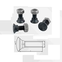 Болт для плуга с подсадкой класса 12.9 (класс твердости 12.9, поверхность черная, норма PN82402, норма DIN608)