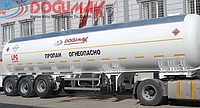 Аренда автоцистерны  DOĞUMAK 45M3 LPG SEMI TRAILER WITH HYDRAULIC PUMP & MECHANIC METER