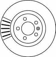 Тормозной диск на Volkswagen Transporter Jurid 562080JC