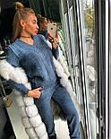 Женский модный теплый вязаный костюм: свитер и штаны (4 цвета), фото 5