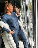 Женский модный теплый вязаный костюм: свитер и штаны (4 цвета), фото 7