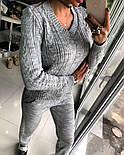Женский модный теплый вязаный костюм: свитер и штаны (4 цвета), фото 8
