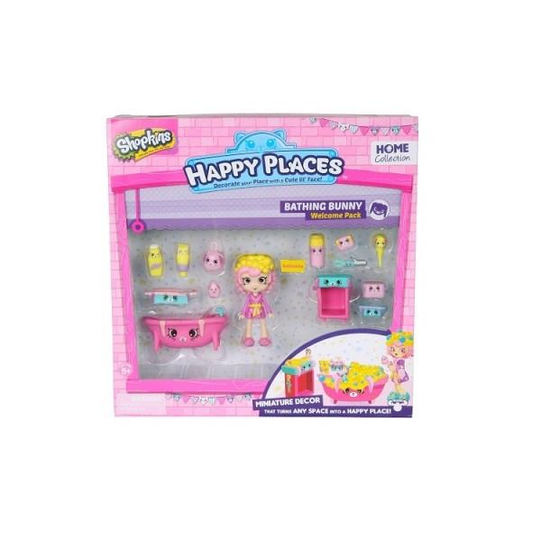 Игровой набор с куклой HAPPY PLACES S1 ВАННАЯ КОМНАТА БАБЛИ ГАМ