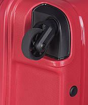Дорожный чемодан из полипропилена на 4-х колесах (средний) Puccini Madagaskar красного цвета, фото 3
