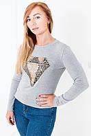Женская теплая молодежная кофточка под джинсы.