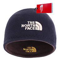 Шапка The North Face Dark Blue двусторонняя