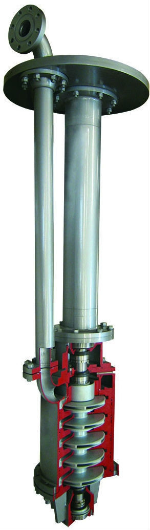 Полупогружной вертикальний електронасос серії ВНД