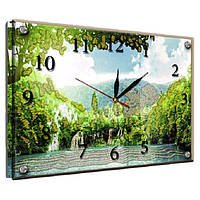"Часы картина ""Озеро в горах"" 25х35см kr50"