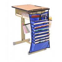 Настольный подвесной органайзер для учебных книг и тетрадей (синий)