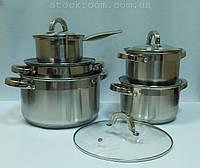 Набор посуды MPM MGK-10 из нержавеющей стали для всех типов плит