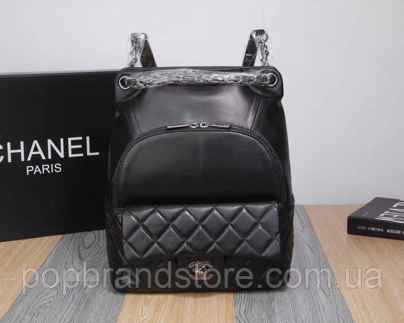 b69d70935220 Стильный кожаный рюкзак CHANEL (реплика) - Pop Brand Store   брендовые  сумки, обувь