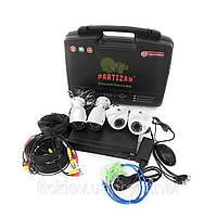 Комплект видеонаблюдения из 4-х камер и видеорегистратора Partizan Mixed Kit 2MP 4xAHD