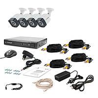 Комплект AHD видеонаблюдения из 4-х камер и видеорегистратора Tecsar AHD 4OUT (6364)