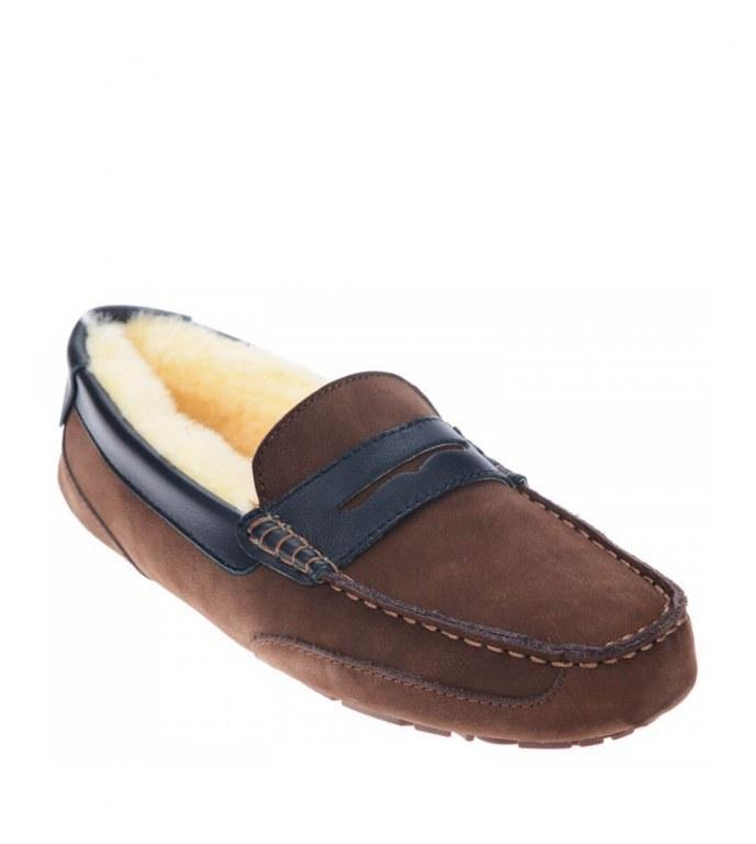 UGG Winter Brain Chocolate. Мужские мокасины UGG. Стильная обувь. Мужские мокасины.