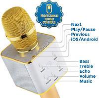 Колонка с функцией Караоке Микрофона Tuxun Q7 (USB, AUX, Bluetooth)