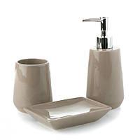 Набор для ванной комнаты кофейный